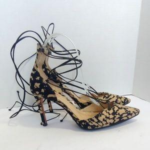 Schutz laceup heels